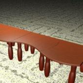 Furniture Long Modular Coffee Tables