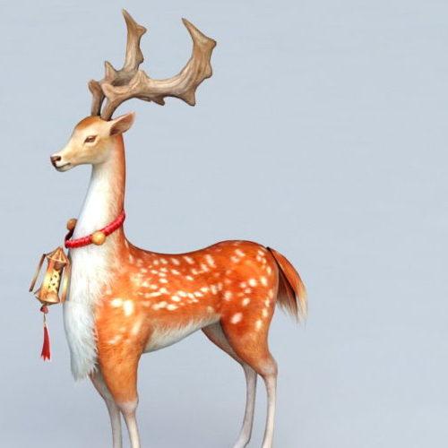 Cartoon Fallow Deer Buck