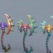 Fantasy Battle Axes Weapon