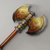 Gaming Battle Axe Decorative Pattern