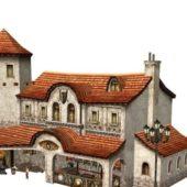 Fantasy Building Weapon Shop