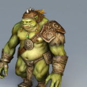 Fat Pig Orc Game Character