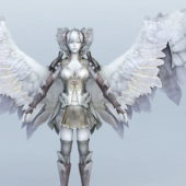 Female Character God Angel Warrior