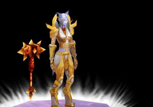 Draenei Paladin Female Game Character