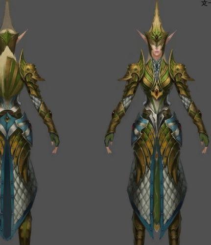 Game Character Female Empire Mercenary