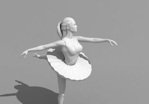 Character Female Ballet Dancer