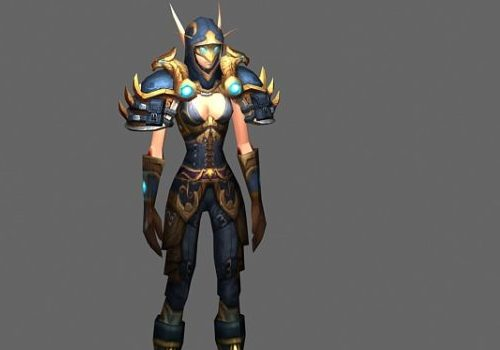 Blood Elf Paladin Female Game Character
