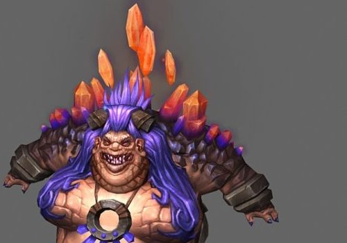Female Ogre Game Character