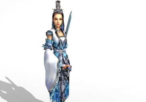 Female Sword Fighter Character