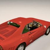 Red Sport Ferrari 288 Gto Car