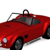 Lowpoly Ferrari 340 Convertible Car