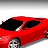Red Ferrari 360 Modena Car