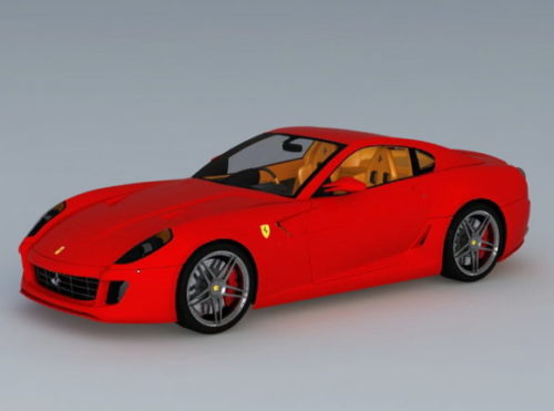 Car Red Ferrari 599 Gtb