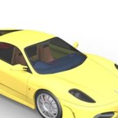 Yellow Ferrari F430 Scuderia Car