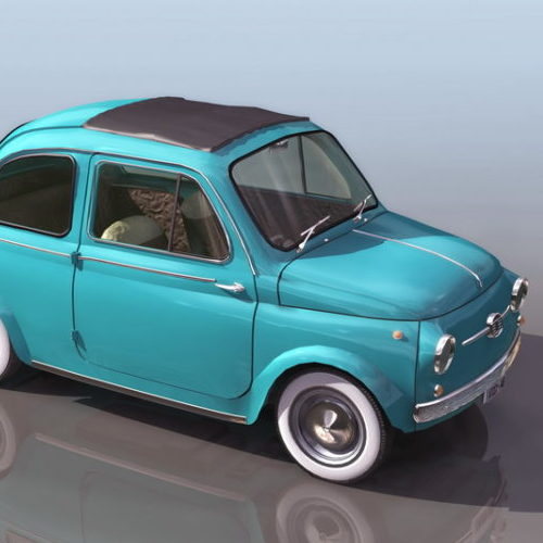Vintage Fiat 500l Mini Mpv Car