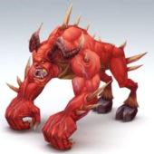 Character Fire Demon Beast