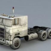 Flat Semi Truck Vehicle