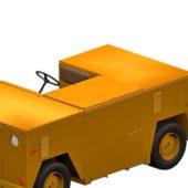 Yellow Flight Deck Tractor