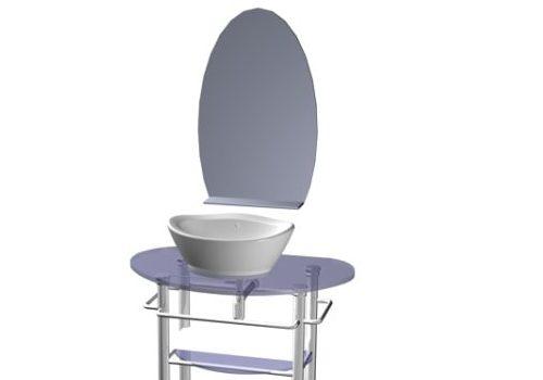 Furniture Floor Standing Glass Bathroom Vanity
