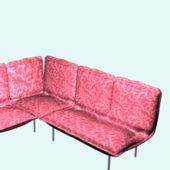 Floral Fabric Furniture Corner Sofa