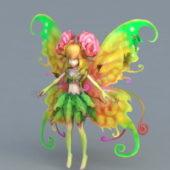 Flower Fairy Girl Character