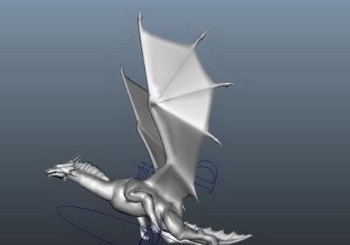 Lowpoly Flying Dragon