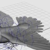 Flying Pigeon Animal Rigged
