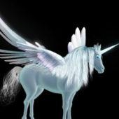 Flying Unicorn Rigged