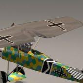 Vintage Focker D7 Fighter Plane