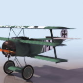 Ww2 Fokker Dr.i Fighter Aircraft