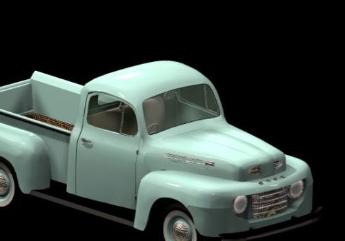 Car Ford 1950 F-3 Pick-up