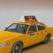 Ford Crown Victoria Yellow Taxi Car