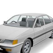White Ford Escort Sedan Car