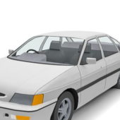 White Paint Ford Escort Sedan Car