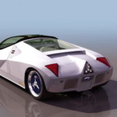 White Ford Gt90 Concept Car
