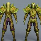 Forest Elven Guardian Character Design