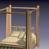 Furniture Four Poster Canopy Bed
