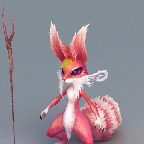 Cartoon Animal Fox Anthropomorphic Wizard