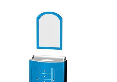 Free Standing Bathroom Cabinet Blue