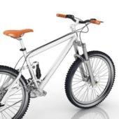 Silver Freeride Mountain Bike