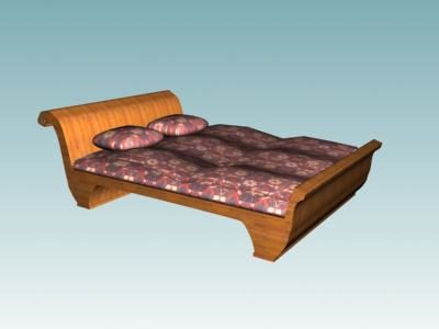 French Style Furniture Sleigh Bed