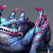 Frog Monster Creature Scuplture