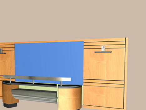 Front Office Desk Furniture With Back Wall