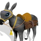 Cartoon Donkey Funny Character