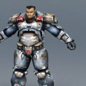 Game Character Armor Soldier