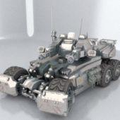 Futuristic Combat Tank Design