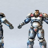 Character Future Soldier With Power Armor