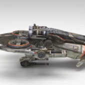 Future Space Warship Aircraft