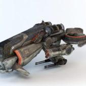 Sci-fi Futuristic Gunship