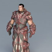 Futuristic Character Male Warrior